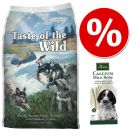 Welcome Kit Puppy & Junior Taste of the Wild + Hunter Calcium Milk Bone