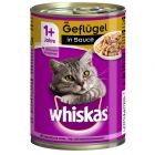 Whiskas 1+ Adult på burk 12 x 400 g