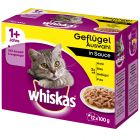 Whiskas 1+ Adult portionspåsar 12 x 100 g