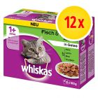 Whiskas 1+, adulte 12 x 100 g