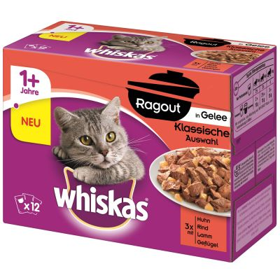 Whiskas 1 Casserole Meaty Selection In Jelly 12 X 85g