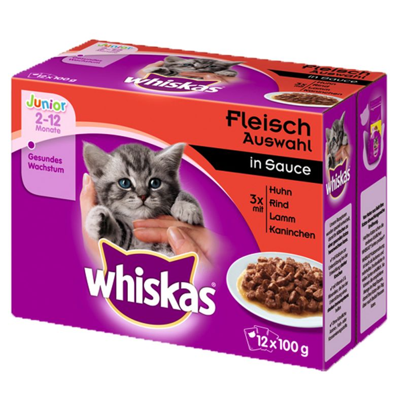 Whiskas Junior Pouches 12 x 100 g