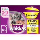Whiskas Kitten Casserole Poultry Selection in Jelly