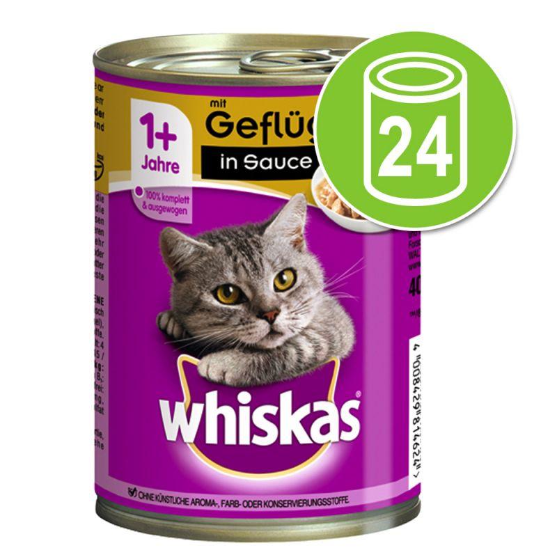 Whiskas 1+ -purkkiruoka 24 x 400 g