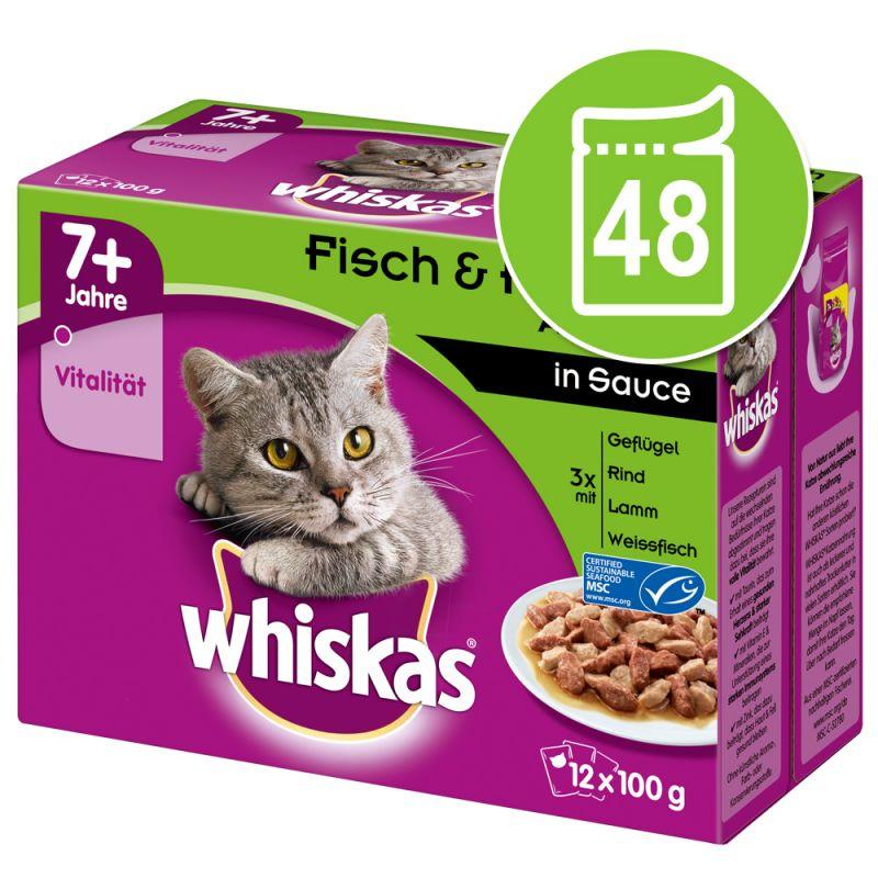 Whiskas 7+ Senior Pouches 48 x 100 / 85 g
