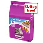 Whiskas 1+ Sterile Dry Cat Food - 3kg + 0.6kg Free!*