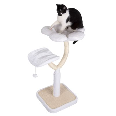 White Flower Cat Tree