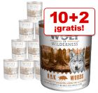Wolf of Wilderness 12 x 800 g en oferta: 10 + 2 ¡gratis!