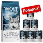 12 кг суха храна Wolf of Wilderness + подарък 6 x 400 г консерви