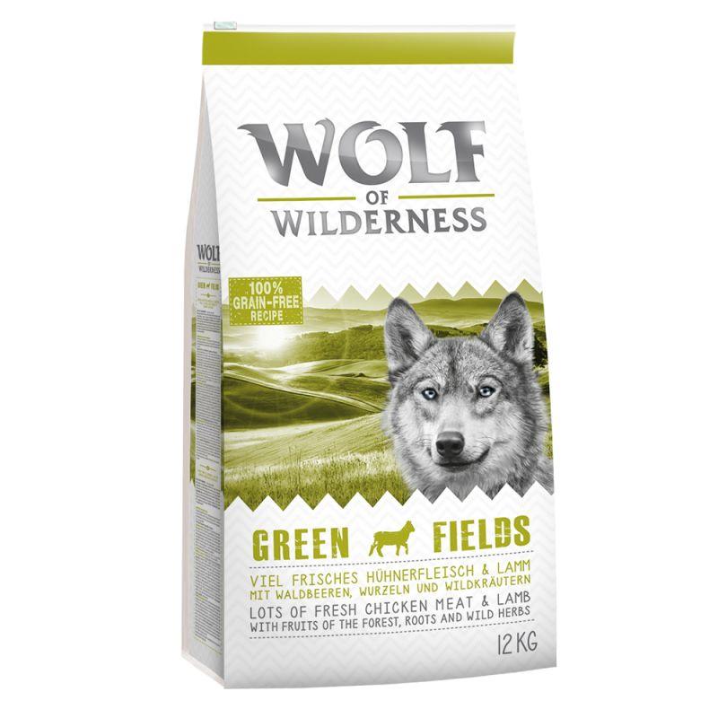 "Wolf of Wilderness Adult ""Green Fields"" - Lamb"