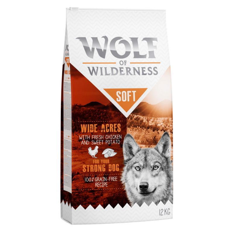 "Wolf of Wilderness Adult ""Soft & Strong - Wide Acres"" - kuřecí"