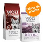 Wolf of Wilderness Adult 2 x 1 kg - Pack de prueba mixto