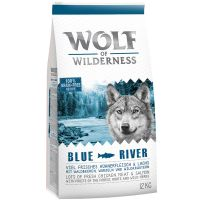 Wolf of Wilderness Blue River con salmón