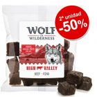 Wolf of Wilderness bocaditos de carne 2 paquetes ¡en oferta!