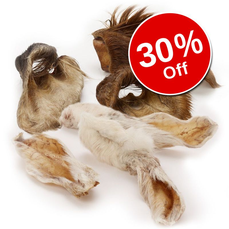Wolf of Wilderness Cow & Rabbit Ears with Fur Snacks - 30% Off!*