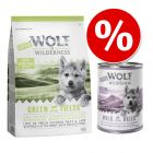 Wolf of Wilderness Junior Green Fields 1 кг + Little Junior, Wild Hills 6 x 400 г по суперцене!