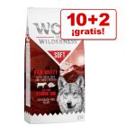 Wolf of Wilderness 12 kg en oferta: 10 + 2 kg ¡gratis!