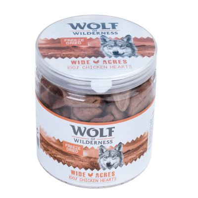 Wolf of Wilderness snacks liofilizados premium