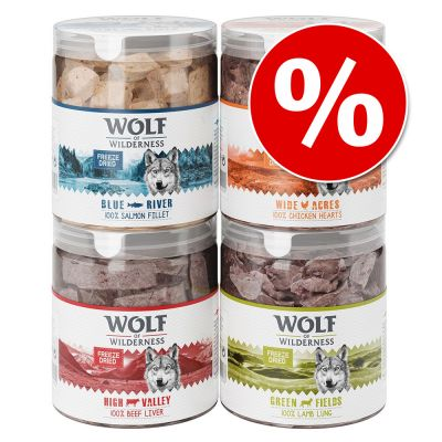 Wolf of Wilderness snacks liofilizados premium - Pack Ahorro 4 unidades