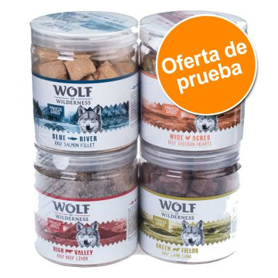 Wolf of Wilderness snacks liofilizados premium - Pack de prueba mixto