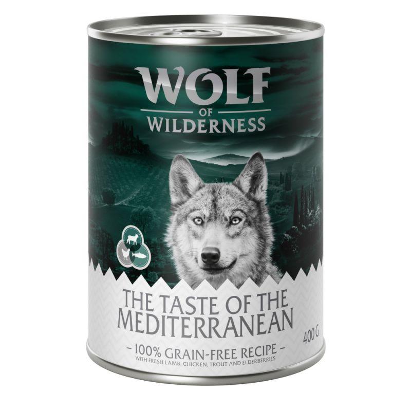 """Wolf of Wilderness """"The Taste of"""" 6 x 400g"""