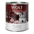 Wolf of Wilderness The Taste Of 6 x 800 g pour chien