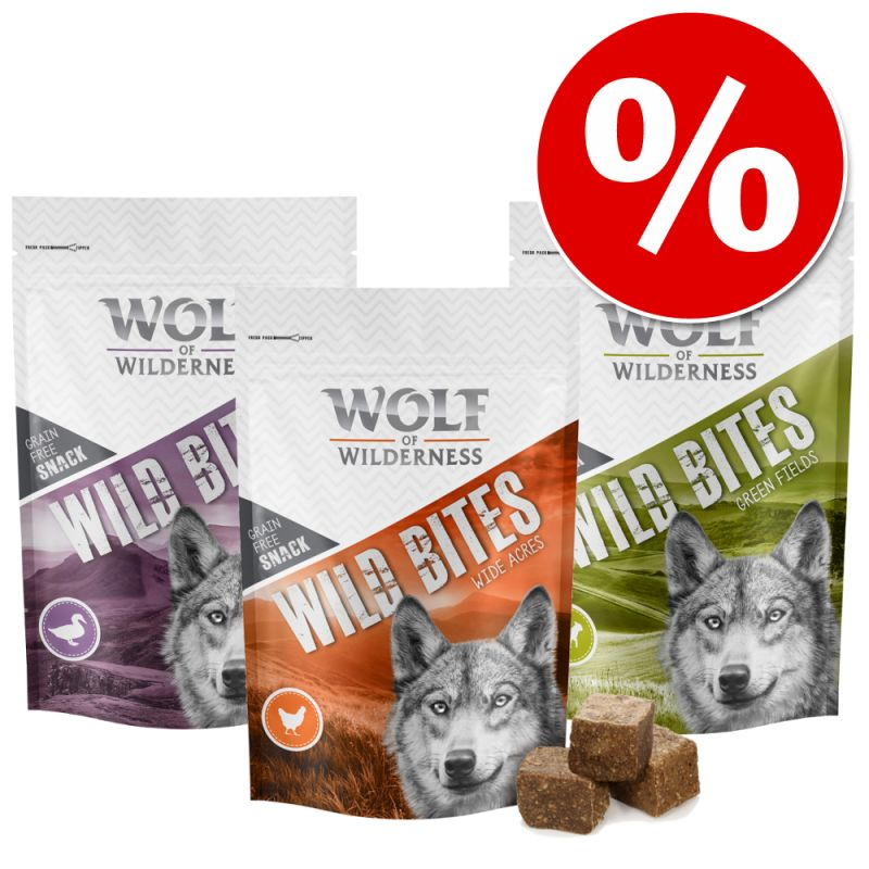 Wolf of Wilderness Wild Bites Dog Snacks Mixed Pack