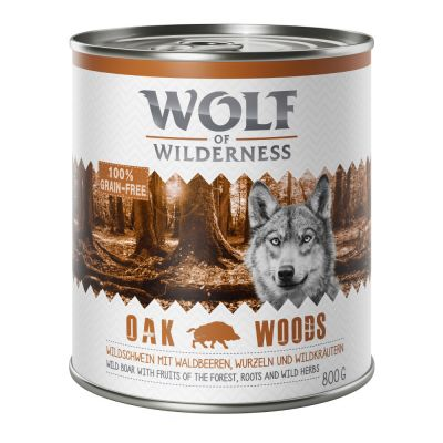 Wolf of Wilderness 6 x 800 g pour chien