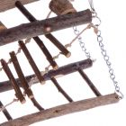 Wood Hanging Bridge for Small Pets