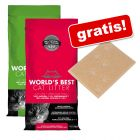 World's Best Cat Litter Żwirek, 2 x 6,35 + Wycieraczka pod kuwetę gratis!