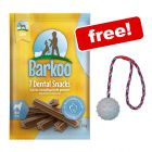 112 x Barkoo Dental Snacks + Trixie Rubber Ball with Throwing Handle Free!*