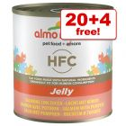 24 x 280g Almo Nature HFC Wet Cat Food - 20 + 4 Free!*