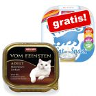 32 x 100 g Animonda vom Feinsten + 4 x 15 g Animonda Milkies gratis!