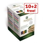 12 x 70g Applaws Cat Pouches Mixed Packs - 10 + 2 Free!*