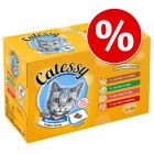 60 x 100g Catessy Chunks Wet Cat Food Pouches - Special Price!*