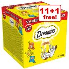 12 x 60g Dreamies Variety Snack Box - 11 + 1 Free!*