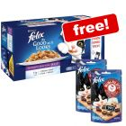 44 x 100g Felix As Good As It Looks + 2 x 40g Mini Filetti Chicken & Beef Cat Treats Free!*