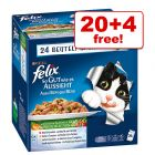24 x 100g Felix As Good As It Looks / Sensations - 20 + 4 Free!*