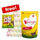 24 x 85g Feringa Wet Cat Food Pouches + Chicken & Duck Sticks Free!*