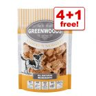 5 x 100g Greenwoods Nuggets Dog Treats - 4 + 1 Free!*