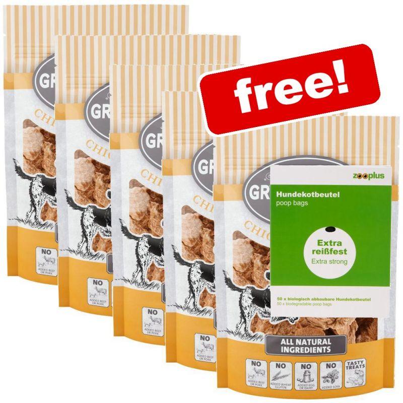 5 x 100g Greenwoods Nuggets Dog Treats + Biodegradable Dog Poop Bags Free!*
