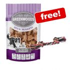 3 x 100g Greenwoods Nuggets Dog Treats + Denta Fun Playing Rope Free!*