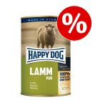 12 x 400 g Happy Dog Pur zum Sonderpreis