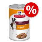 6 x 370 g Hill's Science Plan Adult Light & Perfect Weight zum Sonderpreis