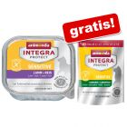 24 x 100 g Integra Protect Adult Sensitive + 300 g droogvoer gratis!