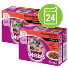 24 x 85/100 g Megapack Whiskas Junior Pliculețe