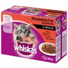12 x 85/100 g  Multipack Whiskas Junior Pliculețe