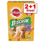3 x 500g Pedigree Biscrok Dog Biscuits - 2 + 1 Free!*