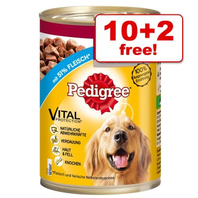 12 X 400g Pedigree Wet Dog Food Cans 10 2 Free Top Deals