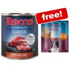 24 x 800g Rocco Classic Wet Dog Food + 120g Poultry Sticks Free!*